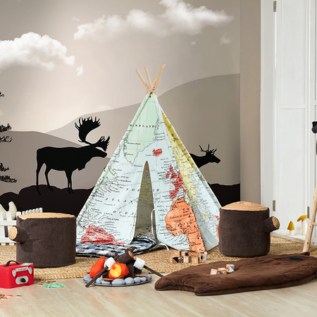 World Map Teepee