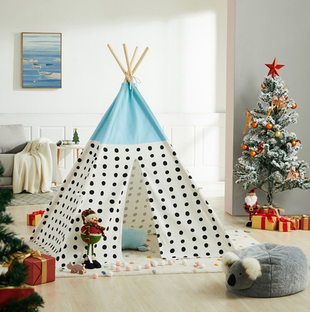 Blue Top Dot Teepee