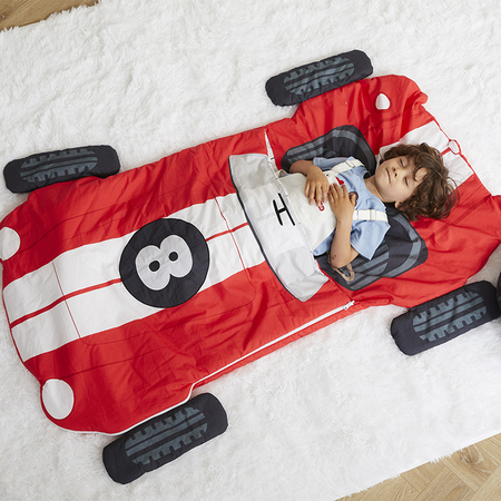 Race Car Sleeping Bag Red