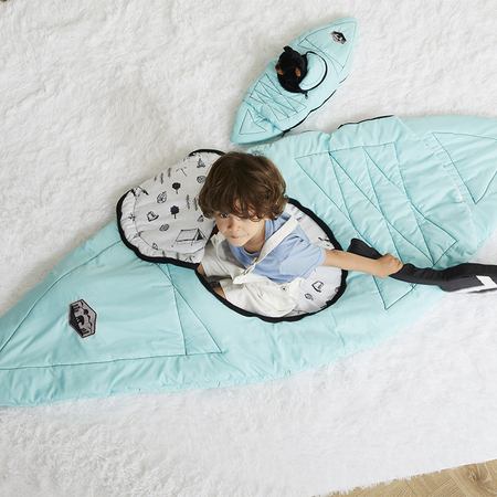 Kayak Sleeping Bag With Oar For Boy